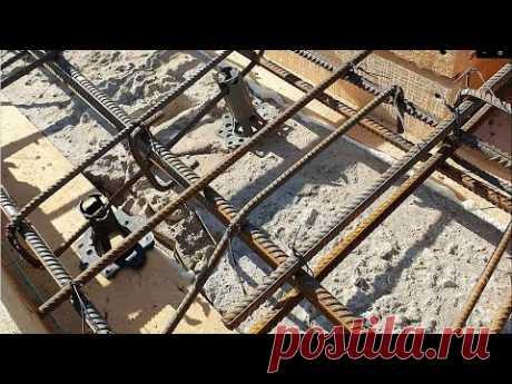 Ленточный фундамент с выносом под облицовку (двутавровый фундамент)