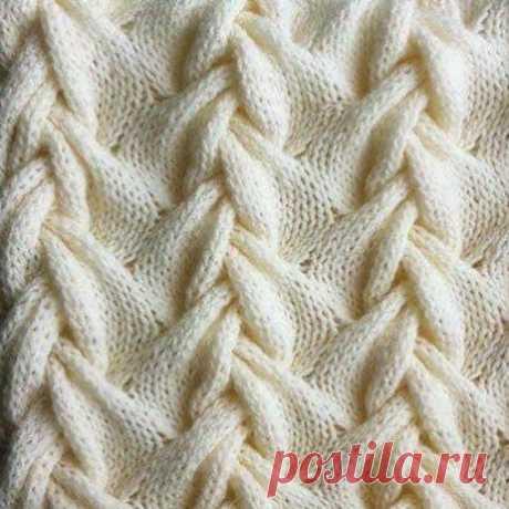 Красивая коса для вязания спицами. Уровень сложности: высокий. Схема вязания в вашу копилочку.