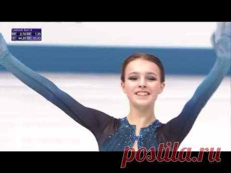 Каскад Щербаковой, который вознес ее на 1-е место в КП на командном ЧМ по фигурному катанию