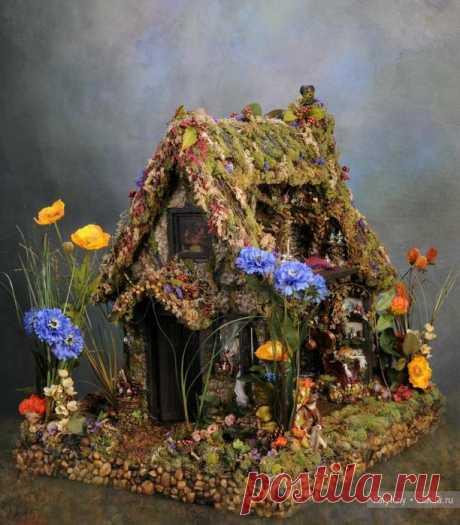 Миниатюрные авторские домики от Melissa Chaple, фото / Авторские текстильные куклы и другие игрушки / КлуКлу. Рукоделие - бисероплетение, квиллинг, вышивка крестом, вязание
