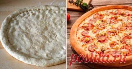 Рецепты тонкого теста для пиццы