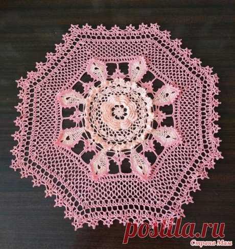 Салфетка с объемным цветком - Вязание - Страна Мам
