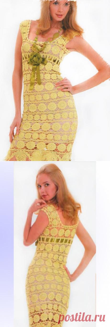 Crochet Dress Pattern. Lace crochet dress от AllPerfectPatterns