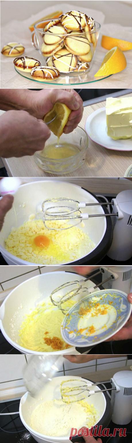 Апельсиновое печенье. Простое, яркое, вкусное и легкое в приготовлении Очередной рецепт печенья, мягкого и нежного, очень простого, яркого и вкусного. Печенье готовится на основе апельсина, причем в ход идет как апельсиновая цедра, так и сок. Мягкое и эластичное тесто с добавлением апельсина получается очень ароматным. Печенье нежное и воздушное внутри, а сверху покрыто легкой сладкой корочкой, и даже внутри апельсиновая прослойка.