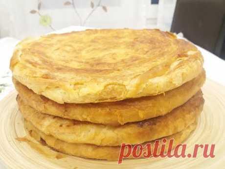Миллион слоёв в одной лепёшке! Таджикская Катлама в духовке. Katlama.