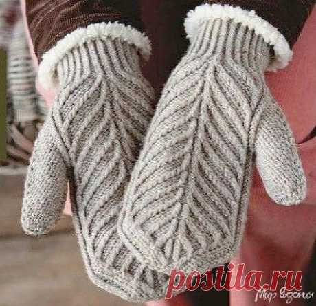 Вяжем варежки спицами — Красивое вязание
