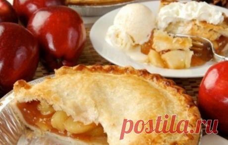 Закрытый пирог с яблоком и карамелью - такой воздушный и легкий десерт с легкостью покорит Ваше сердце!