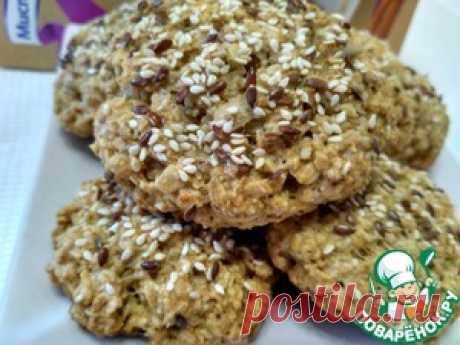 Овсяное печенье с кунжутом и льном - кулинарный рецепт