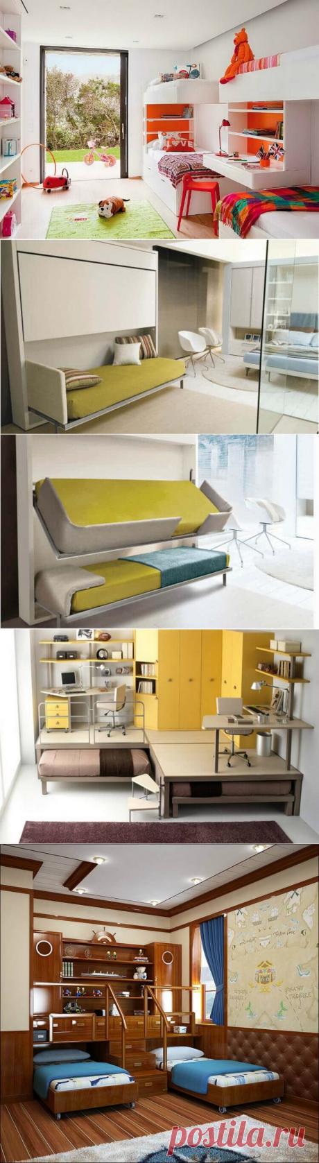 19 замечательных кроватей и спален для больших семей и крохотных пространств