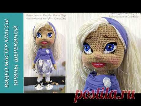 Вышиваем галзки и губки. We embroider ties and sponges. Amigurumi. Crochet. Вязать куклу.