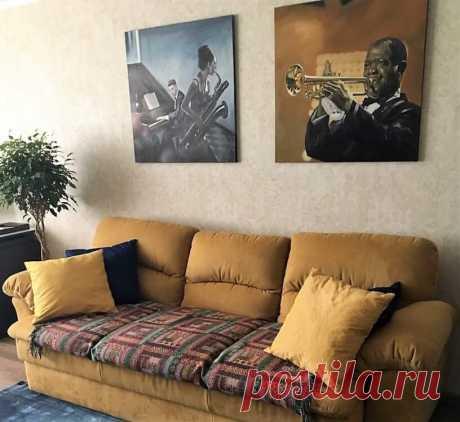 Картина, как важный элемент декора гостиной. Как развесить картины на стене
