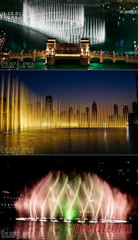 ОАЭ, Дубаи: Фонтан Дубай - самый прекрасный и самый дорогой