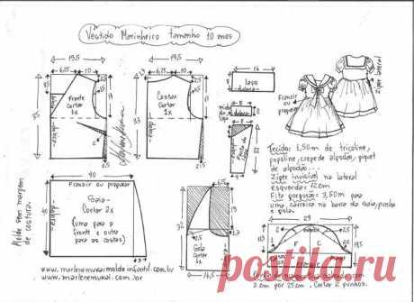 Детское платье в морском стиле.Размеры: от года до 14 лет (Шитье и крой) — Журнал Вдохновение Рукодельницы
