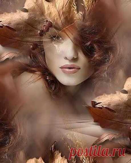 У осенней любьви - запах дикого меда ,поцелуи с горчинкой и цвет янтаря.Лето тихо ушло,засыпает природа,и крадется октябрь,виски серебря...
