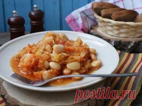Тушеная капуста с фасолью в мультиварке - простой и вкусный рецепт с пошаговыми фото