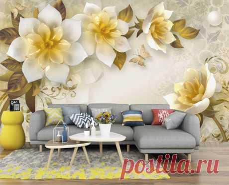 Объемные 3Д цветы под керамику