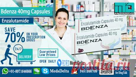 Bdenza Capsules made by BDR Pharmaceuticals Int'l Pvt Ltd contains Enzalutamide in it. Buy now Bdenza online from MedsDelta at wholesale price. Enzalutamide Generic Xtandi: Bdenza 40mg available at MedsDelta,  a dynamic and professional, global pharmaceutical exporter. We serve the needs of the international market. For get detailed information Call/WhatsApp: +91–9971646666, QQ: 3451266709 in order to purchase Bdenza Enzalutamide capsules with delivery to countries including Denmark, Finland, Fr