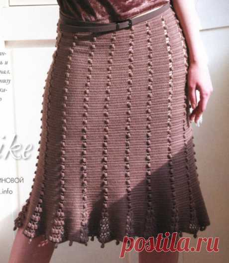 Вязаные юбки + схемы