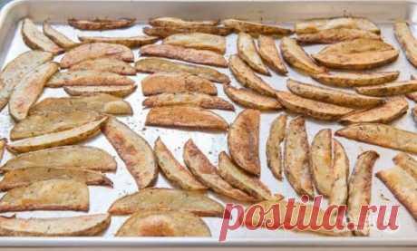 Картофельные дольки с чесноком - пошаговый рецепт с фото на Повар.ру
