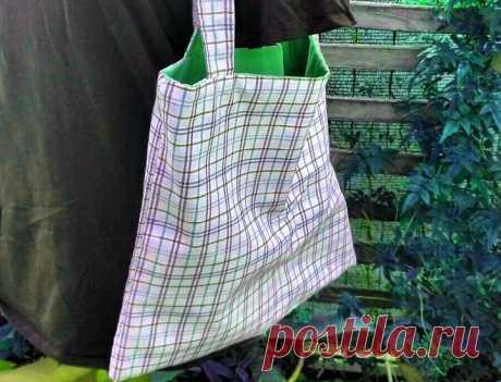 Простая сумка без выкройки своими руками | 33 Поделки Простая вместительная сумка – отличная функциональная вещь, которая пригодится в каждом доме. Сегодня мы расскажем вам, как сшить такой аксессуар своими руками
