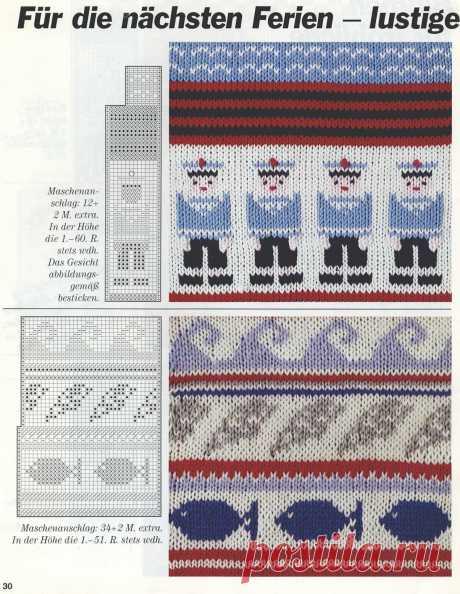 Жаккардовое вязание или вышивка по трикотажу