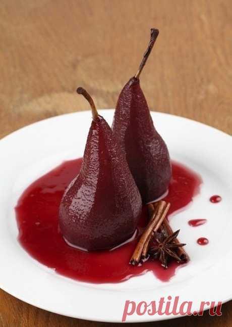 Пряные груши в вине — Sloosh – кулинарные рецепты