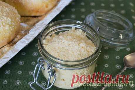✔️Штрейзель рецепт классический - посыпка для булочек из масла, муки и сахара