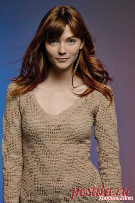 . Пуловер SONG ROWAN крючком - Вязание - Страна Мам