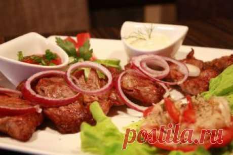 Как приготовить азербайджанский шашлык и соус к шашлыку - Соус, маринад для шашлыка, соус барбекю .