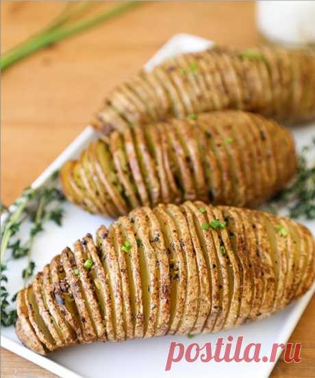 Как приготовить картофель-аккордеон - рецепт, ингредиенты и фотографии