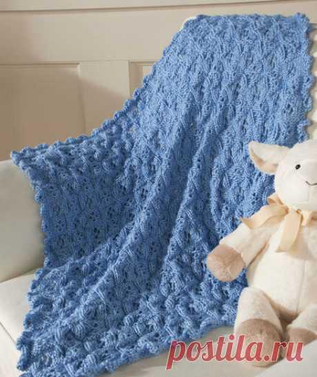 Детский плед спицами для начинающих | Моё хобби.Вязание для детей. | Яндекс Дзен