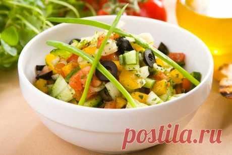 Салат с помидорами и огурцами – пошаговый рецепт с фото.