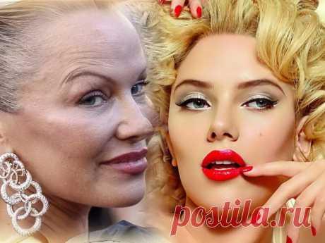 Знаменитые дамы, которые старательно скрывают свою реальную внешность под макияжем   Pentad