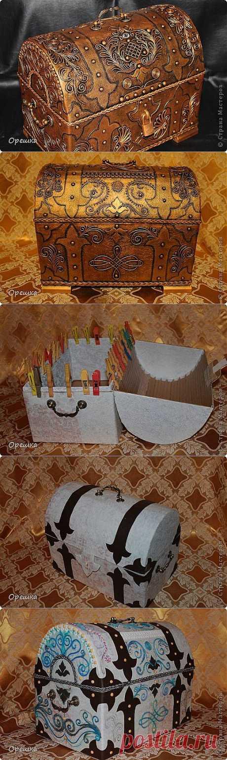 Пейп- арт сундук | Самоделкино