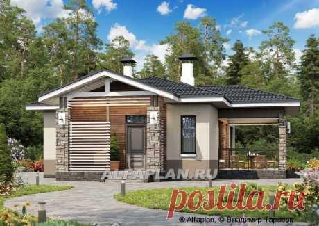 """🏠 """"Мелета"""" - компактный и уютный одноэтажный дом с двумя спальнями: цены, планировка, фото. Купить готовый проект"""
