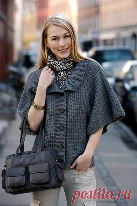 Даже вязание: жакет с рукавами реглан - ей мировой