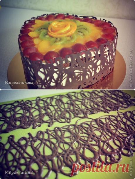 Как сделать шоколадные бортики для торта своими руками | Четыре вкуса