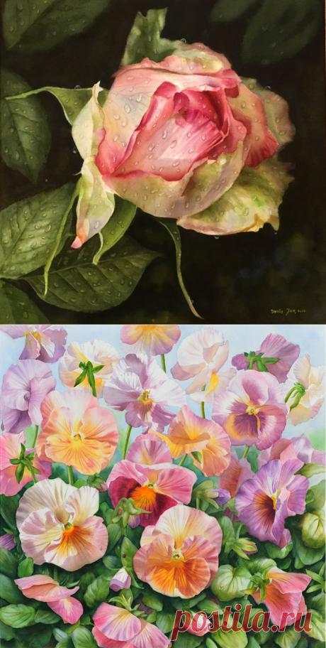 Акварельная роскошь цветов. Doris Joa