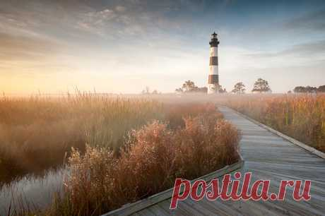 Wall-paper of the USA Bodie Island North Carolina Beacons Nature Grass