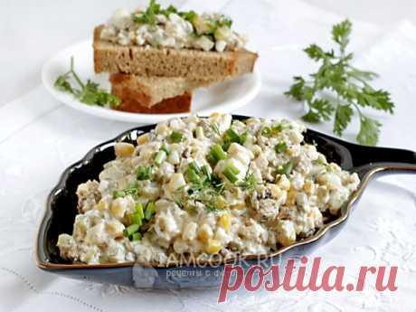 Шпротный салат-намазка — рецепт с фото