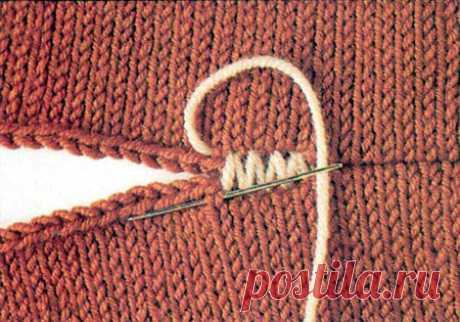 декоративные швы соединения вязаных деталей крючком