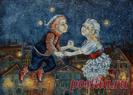Художница из Петербурга рисует наивные сказки