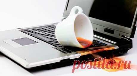 Что делать, если залили клавиатуру ноутбука жидкостью?