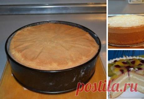 Идеальный пышный бисквит для тортов.