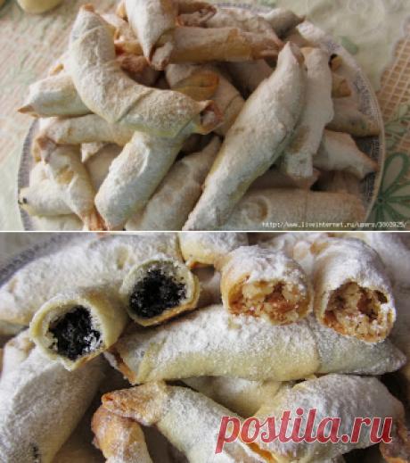 Обалденные рогалики - тончайшее, хрустящее тесто и много сладкой вкусной начинки! | Четыре вкуса