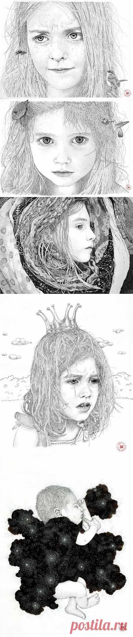 Картины из точек от Пабло Хурадо Руиса (11 картин)