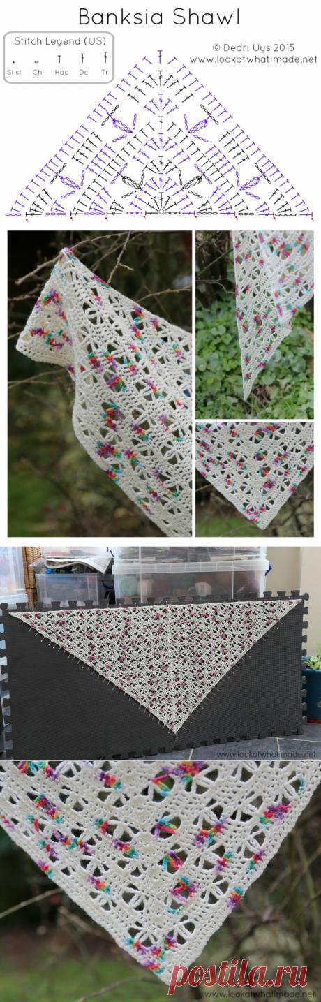 Banksia Shawl Crochet Pattern - посмотрите, что я сделал