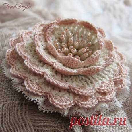 Шикарные вязаные цветы Шикарные вязаные цветыШикарные вязаные цветы могут стать чем угодно.Подхватом для штор или брошью. Резинкой или просто частью декора.Самое главное - это счастье, которое рождается при их создании.