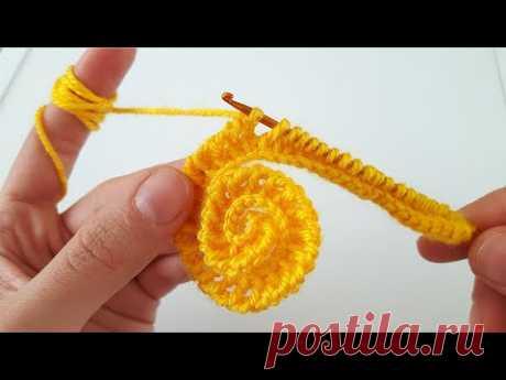 TUNUS İŞİ ÇOK KOLAY ÖRGÜ GÜL MODELİ #flower #flor #tejido de punto #knitting