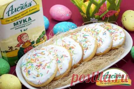Пасхальное печенье От этого пасхального печенья будут в восторге как дети, так и взрослые. Рассыпчатое, нежное пасхальное печенье станет украшением вашего пасхального стола.
